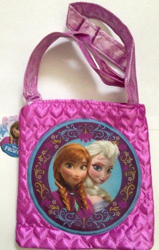 Disney Frozen purse w/ Elsa & Anna in quilted satin  NEW