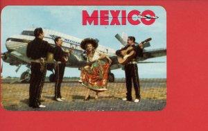 MEXICO AIRPLANE MEXICANA DE AVIACION VINTAGE POSTCARD