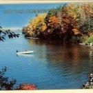 MUNISING MI MICHIGAN GREETINGS FROM 1960 BOAT POSTCARD
