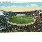 Cambridge MA Mass  Harvard Football Stadium Postcard