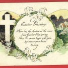 EASTER BLESSING CROSS LILLIES  POSTCARD