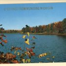 MUNISING MI MICHIGAN GREETINGS FROM 1961 LAKE POSTCARD