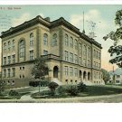 PAWTUCKET RHODE ISLAND RI 1910 HIGH SCHOOL POSTCARD