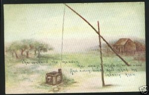 THE ORCHARD MEADOW WILDWOOD CABIN POLE 1914 POSTCARD