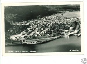 RPPC SEWARD AK AERIAL VIEW - SHIP -  JOHNSTON