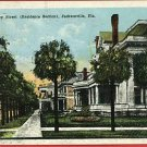 JACKSONVILLE FLORIDA ASHLEY STREET 1923  POSTCARD