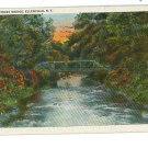 ELLENVILLE NEW YORK CENTER STREET BRIDGE 1932 POSTCARD