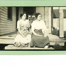 TWO WOMEN ON PORCH REAL PHOTO POSTCARD RPPC
