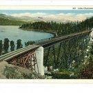 LAKE CHATCOLET IDAHO ID RAILROAD BRIDGE 1939 POSTCARD