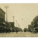 RPPC CHARLOTTE MICHIGAN MI MAIN ST BUSINESSES 1909