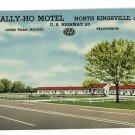 NORTH KINGSVILLE OHIO OH TALLY HO MOTEL 1956 POSTCARD