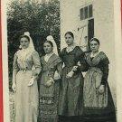 NIORT FRANCE  4 WOMEN  MOUGON  VINTAGE POSTCARD