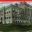 FREMONT OHIO HIGH SCHOOL 1910  POSTCARD