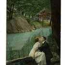 COUPLE KISSING IF IT COULD ONLY BE BAMFORTH  POSTCARD