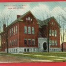 ANN ARBOR MICHIGAN BACH SCHOOL 2ND WARD 1910  POSTCARD