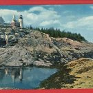 PEMAQUID ME MAINE PEMAQUID  LIGHT HOUSE  POSTCARD