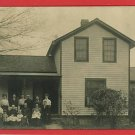 RPPC FAMILY OUTSIDE HOUSE EVENS 1908  RP POSTCARD