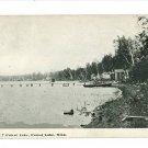 FOREST LAKE MINNESOTA MN 1911 POSTCARD DOCKS