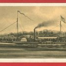 NORTH RIVER STEAMBOAT CLERMONT SHIP BOAT CARD