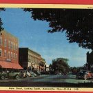 MONROEVILLE OHIO OH  MAIN STREET CARS BUSINESS POSTCARD