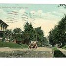 BUCYRUS OHIO SANDUSKY ST CAR HOUSES  1909 POSTCARD