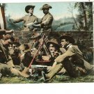 WWI SOLDIERS FLAG IRON POT FIRE UNIFORMS DRUM POSTCARD