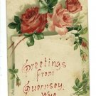 GUERNSEY WY WYOMING GREETINGS FROM 1908  POSTCARD