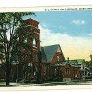 GREEN SPRINGS OHIO OH M.E. CHURCH  FREY  POSTCARD