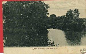 SHEET'S ISLAND MAUMEE RIVER OHIO BARKALOW POSTCARD