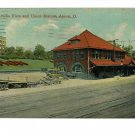 AKRON OHIO UNION STATION RAILROAD DEPOT AMELIA FLATS