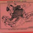 ROLLER SKATING CRAZE COMIC EARL 1908 ARTIST SI POSTCARD