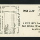 CANTON OHIO OH KEITH MFG CO ADVERTISING SCARF POSTCARD