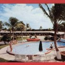 SOUTH  MIAMI FL FLORIDA PALMS MOTEL OLD CAR  POSTCARD