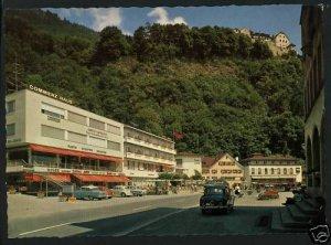 VADUZ Liechtenstein HOTEL ENGEL OLD CARS    POSTCARD