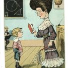 THE SCHOOLMARM SCHOOLMA'AM 1906 OLD MAID POSTCARD