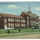 DURHAM NC SENIOR HIGH SCHOOL 1951 N CAROLINA  POSTCARD