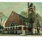 KOKOMO INDIANA IN GRACE M.E. CHURCH  POSTCARD