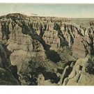 Coyote Canyon Badlands SD Hand-Colored Postcard 1947