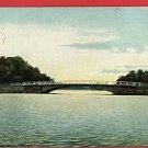 NEW HAVEN CONNECTICUT CT LAKE WHITNEY BRIDGE POSTCARD