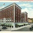 TROY NEW YORK NY HENDRICK HUDSON HOTEL 1936 POSTCARD