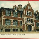 YPSILANTI MICHIGAN MI NEW WOODRUFF SCHOOL 1911 POSTCARD