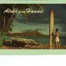 ALOHA FROM HAWAII 1965 POSTCARD SURFBOARD HELBIG