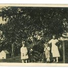 RPPC THREE CHILDREN DOGHOUSE BARN RPPC