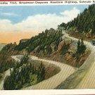 COLORADO SPRINGS PARADISE TRAIL HIGHWAY CARS POSTCARD