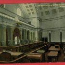 SUPREME COURT WASHINGTON DC INTERIOR  POSTCARD