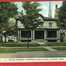 LANSING MICHIGAN MI HIGH YWCA 1909  POSTCARD