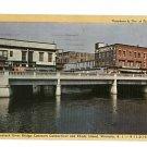 Westerly RI Pawcatuck River Bridge Postcard 1948
