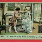 MUSIC DANCING COUPLE SONG MUSIC SO SWEET 1908  POSTCARD