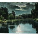 CEDAR POINT OHIO MOONLIGHT ON THE LAGOON OLD POSTCARD
