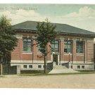 WELLINGTON OHIO HERRICK PUBLIC LIBRARY BINDER  POSTCARD